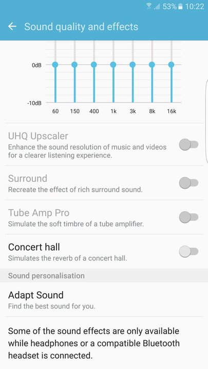 galaxy s tips and tricks adapt sound