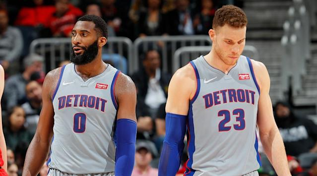"""<p>The early returns on the Pistons' surprising <a href=""""https://www.si.com/nba/2018/01/29/blake-griffin-trade-clippers-pistons-tobias-harris-avery-bradley"""" rel=""""nofollow noopener"""" target=""""_blank"""" data-ylk=""""slk:Blake Griffin trade"""" class=""""link rapid-noclick-resp"""">Blake Griffin trade</a> were promising. Detroit won its first four games with Griffin in the lineup, with the five-time All-Star (and one-time <a href=""""https://www.si.com/nba/2017/11/07/blake-griffin-clippers-chris-paul-doc-rivers-lob-city"""" rel=""""nofollow noopener"""" target=""""_blank"""" data-ylk=""""slk:Clipper For Life"""" class=""""link rapid-noclick-resp"""">Clipper For Life</a>) scoring at least 20 points in three of those contests. Looking primed for a playoff push, the Pistons soon unexpectedly cratered. Detroit has won only three times since Feb. 9—and two of those wins were against two of the league's most blatant tankers. The Pistons have lost 12 of their last 15 games to ruin their postseason hopes, and their risky swing on Griffin is looking more and more like a miss instead of a home run.</p><p>Watching Griffin, it's obvious he's not the same player he was in Los Angeles even just earlier this season. Whether it's system or motivation, the Detroit version of Griffin too often floats on the perimeter on offense, waiting a little bit too much for the game to come to him instead of taking control of the action. Without a top flight point guard in Chris Paul or the big-to-big chemistry he had with DeAndre Jordan, Griffin's offense has suffered.</p><p>In 33 games with the Clippers this season, Griffin took 53.1% of his shots in the paint. That's a healthy number for someone who can be a weapon in pick-and-rolls and bully smaller players on the block, but who also has a jumper to keep defenses honest. In 19 games with the Pistons, only 42.5% of Griffin's shots are coming inside 10 feet. The majority of that difference has come in pull-up jumpers, on which Griffin has a 34.2% effective field-goal percentage in Detroit. E"""
