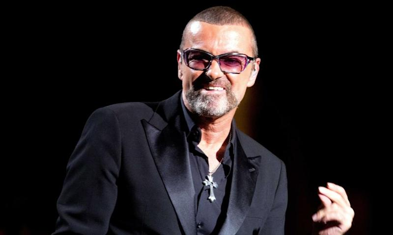 George Michael performing at a charity gala in Paris in 2012.