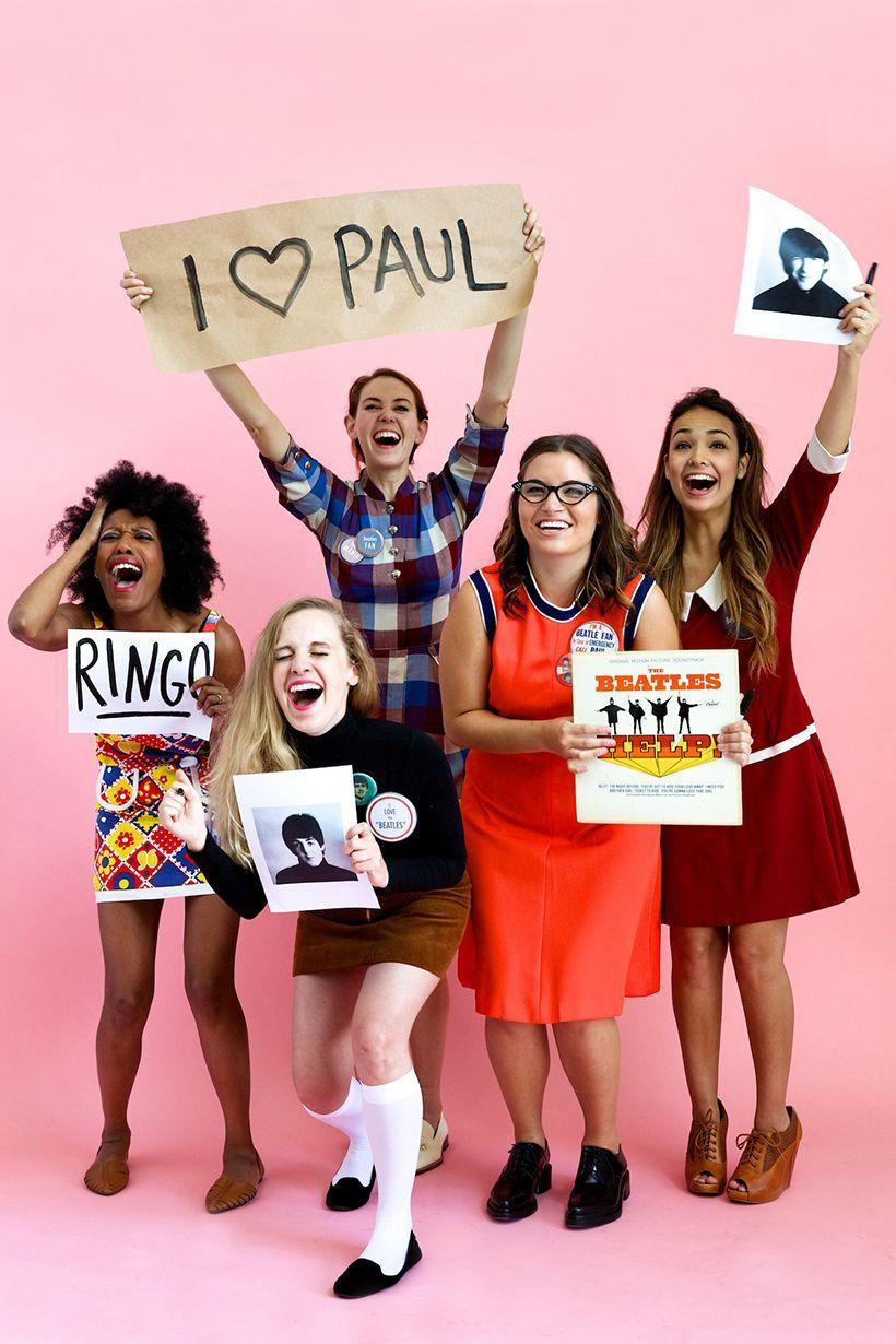 """<p>Imagine how much fun you'll have when you assemble your squad for this genius group costume idea.</p><p><strong>Get the tutorial at <a href=""""https://camillestyles.com/living/diy/beatles-fan-costume/"""" rel=""""nofollow noopener"""" target=""""_blank"""" data-ylk=""""slk:Camille Styles"""" class=""""link rapid-noclick-resp"""">Camille Styles</a>.</strong></p><p><strong><a class=""""link rapid-noclick-resp"""" href=""""https://www.amazon.com/Satinior-Women-Cosplay-Halloween-School/dp/B074J8ZZQW/?tag=syn-yahoo-20&ascsubtag=%5Bartid%7C10050.g.22118522%5Bsrc%7Cyahoo-us"""" rel=""""nofollow noopener"""" target=""""_blank"""" data-ylk=""""slk:SHOP KNEE-HIGH SOCKS"""">SHOP KNEE-HIGH SOCKS</a></strong></p>"""