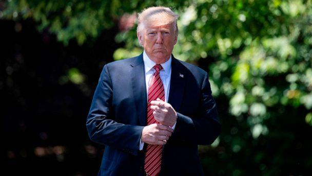 PHOTO: President Donald Trump walks out of the Oval Office to speak with reporters at the White House in Washington, D.C., June 11, 2019. (Jim Watson/AFP/Getty Images)