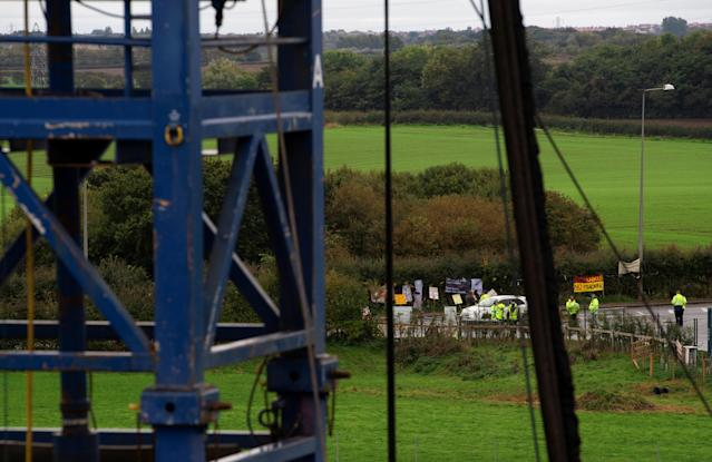 Protestors have hailed the 'death of fracking' in the UK (Picture: REUTERS/Peter Powell)
