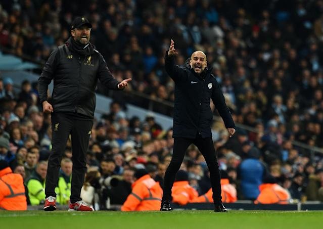 Jurgen Klopp's Liverpool and Pep Guardiola's Manchester City are two of the four Premier League teams in the Champions League quarterfinals. Will an English side raise the trophy for the first time since 2012? (Getty)