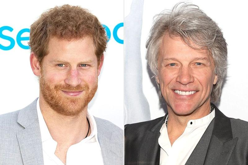 Pring Harry and Jon Bon Jovi | Getty (2)