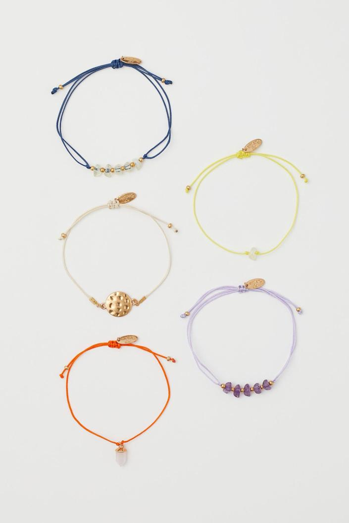 <p>These <span>5-pack Bracelets</span> ($18) will be the finishing touch to all your outfits.</p>
