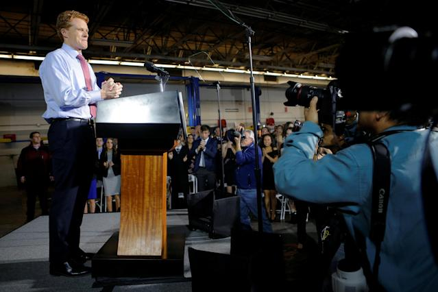 U.S. Rep. Joe Kennedy III, D-Mass., takes the stage to deliver the Democratic rebuttal to President Donald Trump's State of the Union address in Fall River, Mass. (Photo: Brian Snyder/Reuters)