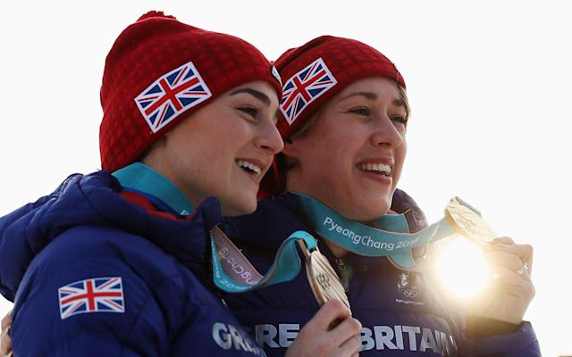 Laura Deas (left) and Lizzy Yarnold (right) won bronze and gold in the Skeleton - Getty Images AsiaPac