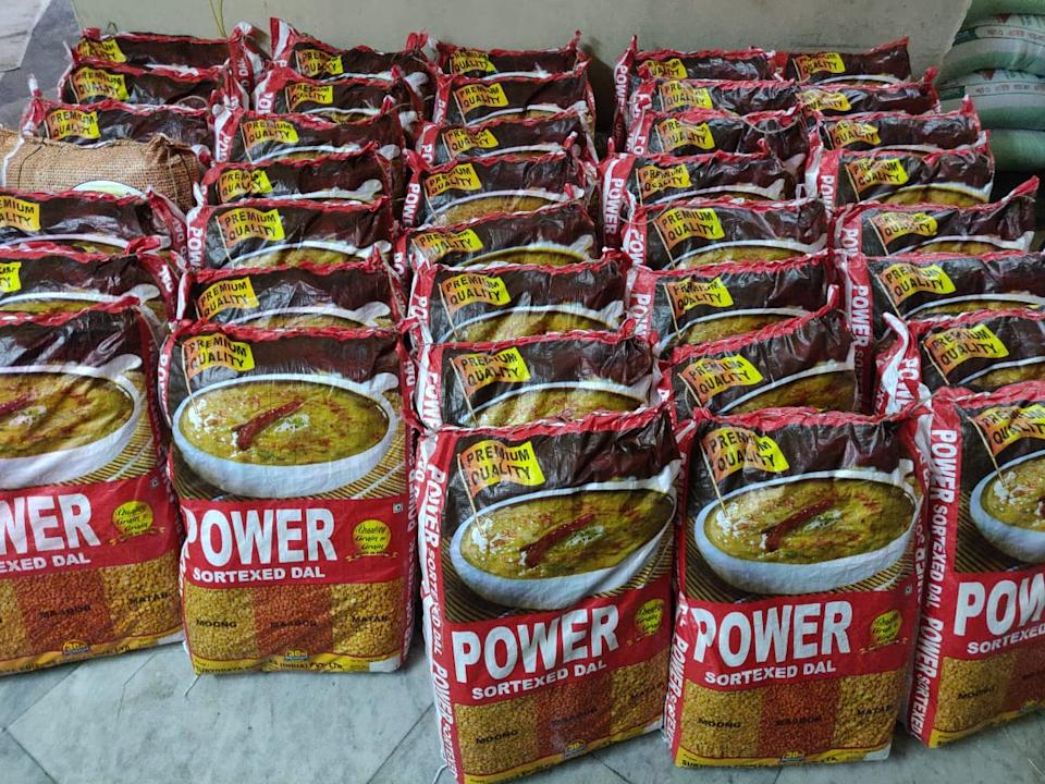 Dal offered as a part of ration kit by Mission Aamra