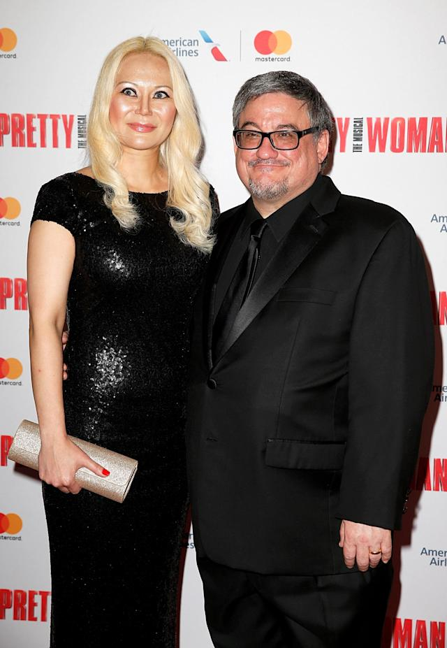 Paola Lawton and J.F. Lawton attend the Broadway opening night of <em>Pretty Woman: The Musical</em> at Nederlander Theatre on August 16, 2018 in New York City. (Photo by Dominik Bindl/Getty Images)