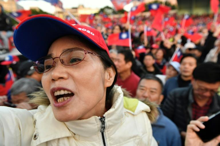 Des supporters du candidat Han Kuo-yu