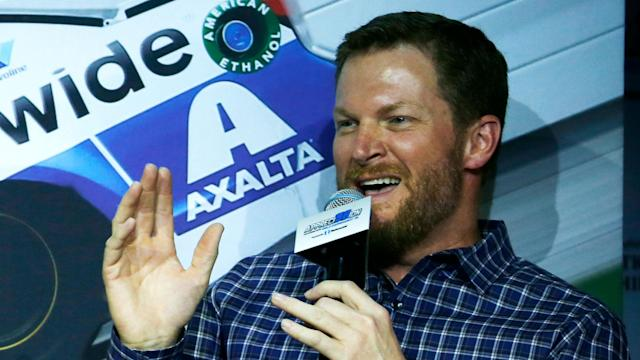 Dale Earnhardt Jr. compared short-track speed skating to NASCAR during his coverage of the Winter Olympics in Pyeongchang.