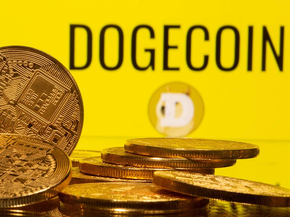Dogecoin's remarkable price rally has seen it rise more than 30,000 per cent between May 2020 and May 2021 (Reuters)