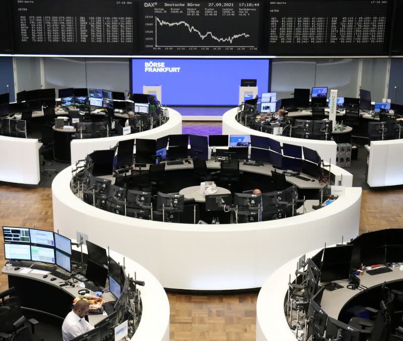 German share price index DAX graph is pictured at the stock exchange in Frankfurt