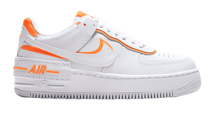 Nike white and orange sneakers
