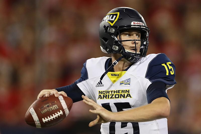 Northern Arizona QB Case Cookus has shown enough skill and resilience to be on NFL scouts' radars. (Getty Images)