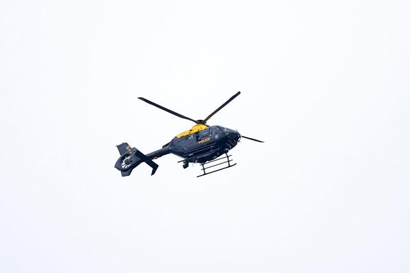 Overhead: A police helicopter reportedly gatecrashed filming: Liam McBurney/PA Archive/PA Images