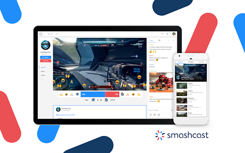 Smashcast is aiming to compete with Twitch. (Smashcast)