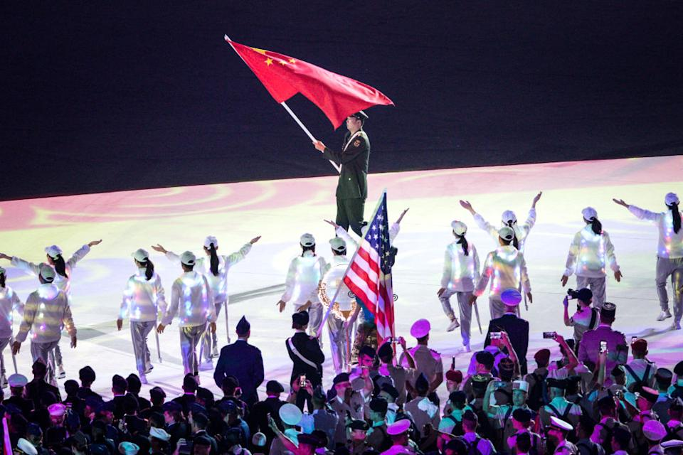 The opening ceremony of the Military Games where thousands of athletes gathered. Source: Getty