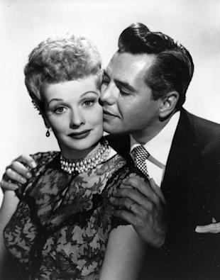 """In this undated image provided by CBS, comedian-actress Lucille Ball and her husband, musician-actor Desi Arnaz, from the comedy series, """"I Love Lucy,"""" are shown. Ball plays a wife who is married to a Cuban band leader, played by real life husband Arnaz. (AP Photo/File)"""