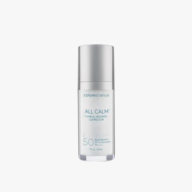 """Colorescience All Calm Clinical Redness Corrector SPF 50, $125 Buy it now """"All Calm by Colorescience is AMAZING--super calming, total mineral, complete coverage, stays on during exercise in hot sun, doesn't sting. Truly trustworthy solution for sun protection."""" —Ellen Marmur, M.D."""