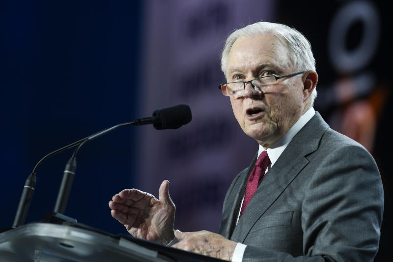 Attorney General Jeff Sessions' Department of Justice is not going to defend the Affordable Care Act's pre-existing condition rule in a lawsuit brought by 20 states. (AAron Ontiveroz via Getty Images)