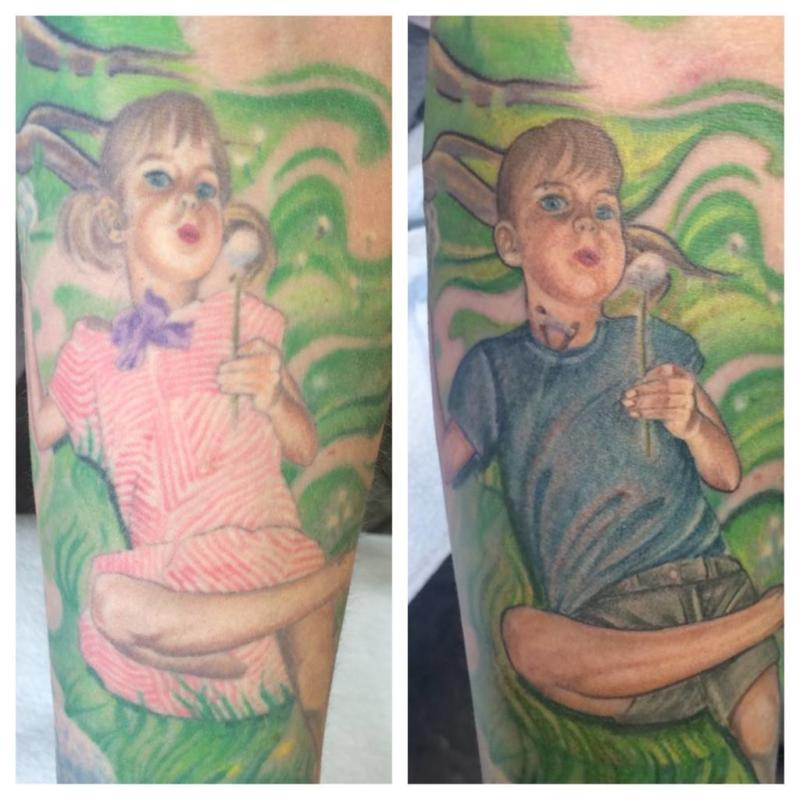 eb1ed8237 Mom Transforms Her Tattoo of Transgender Son to Reflect His 'New Awesome  Life'