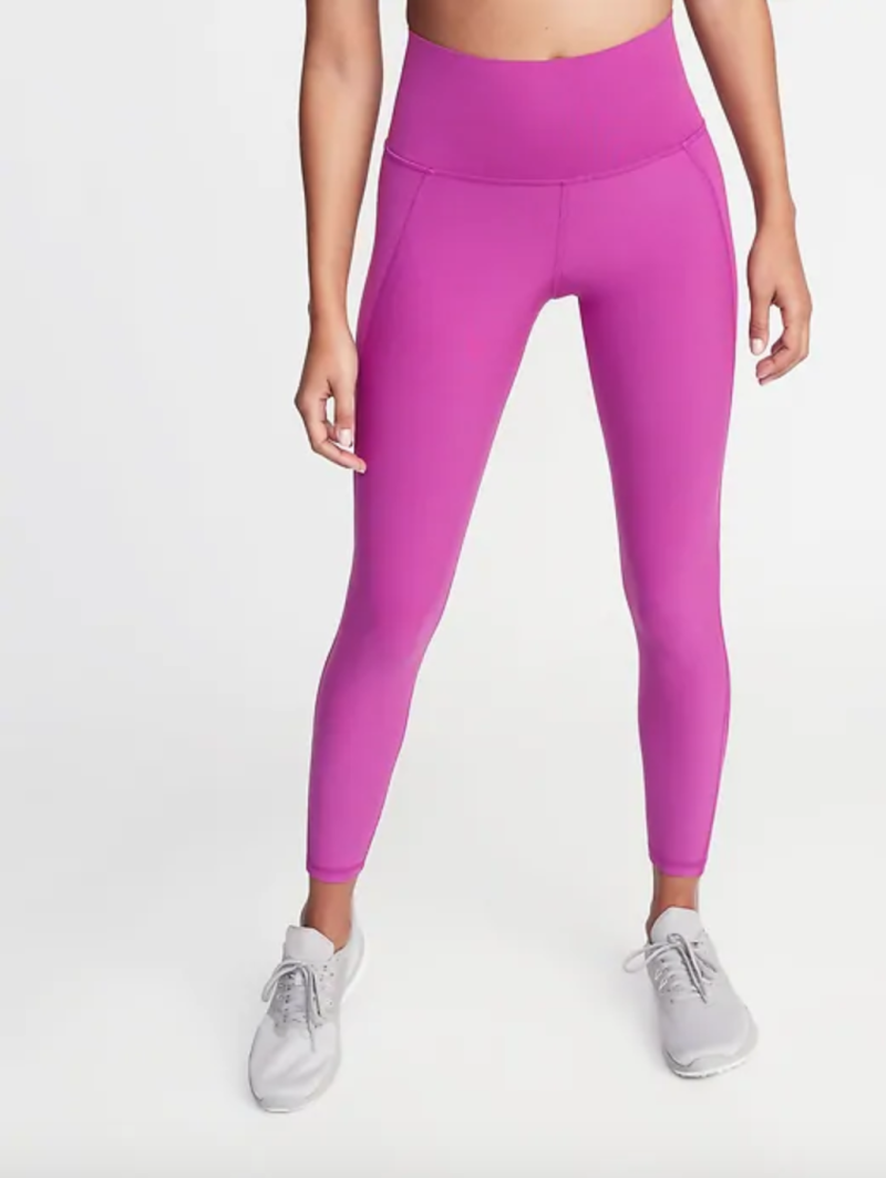 High-Rise Elevate Built-In Sculpt 7/8-Length Compression Leggings.