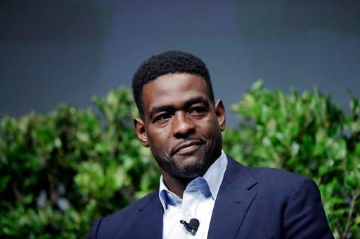Former NBA player Chris Webber participates in a sports and activism panel in San Jose, California in 2017.