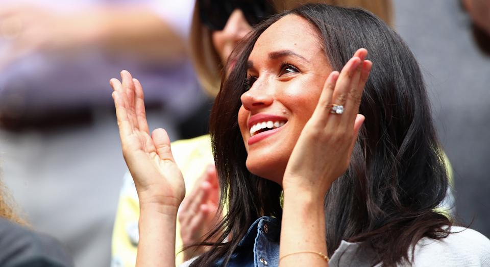 Meghan Markle made a last-minute trip to support friend Serena Williams at the US Open women's final [Image: Getty]
