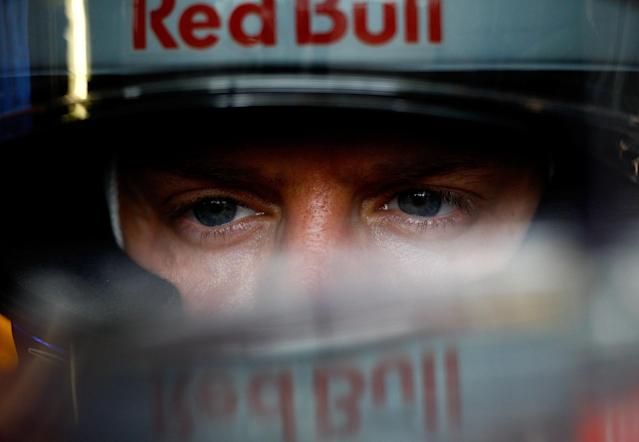 MONTREAL, CANADA - JUNE 08: Sebastian Vettel of Germany and Red Bull Racing sits in his car in the garage during practice for the Canadian Formula One Grand Prix at the Circuit Gilles Villeneuve on June 8, 2012 in Montreal, Canada. (Photo by Vladimir Rys/Getty Images)