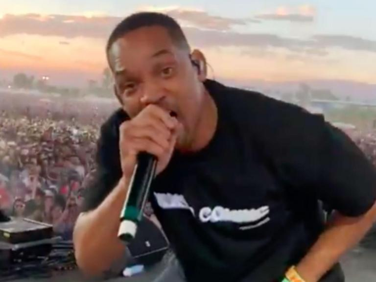 Will Smith joins Jaden on stage in surprise Coachella festival performance