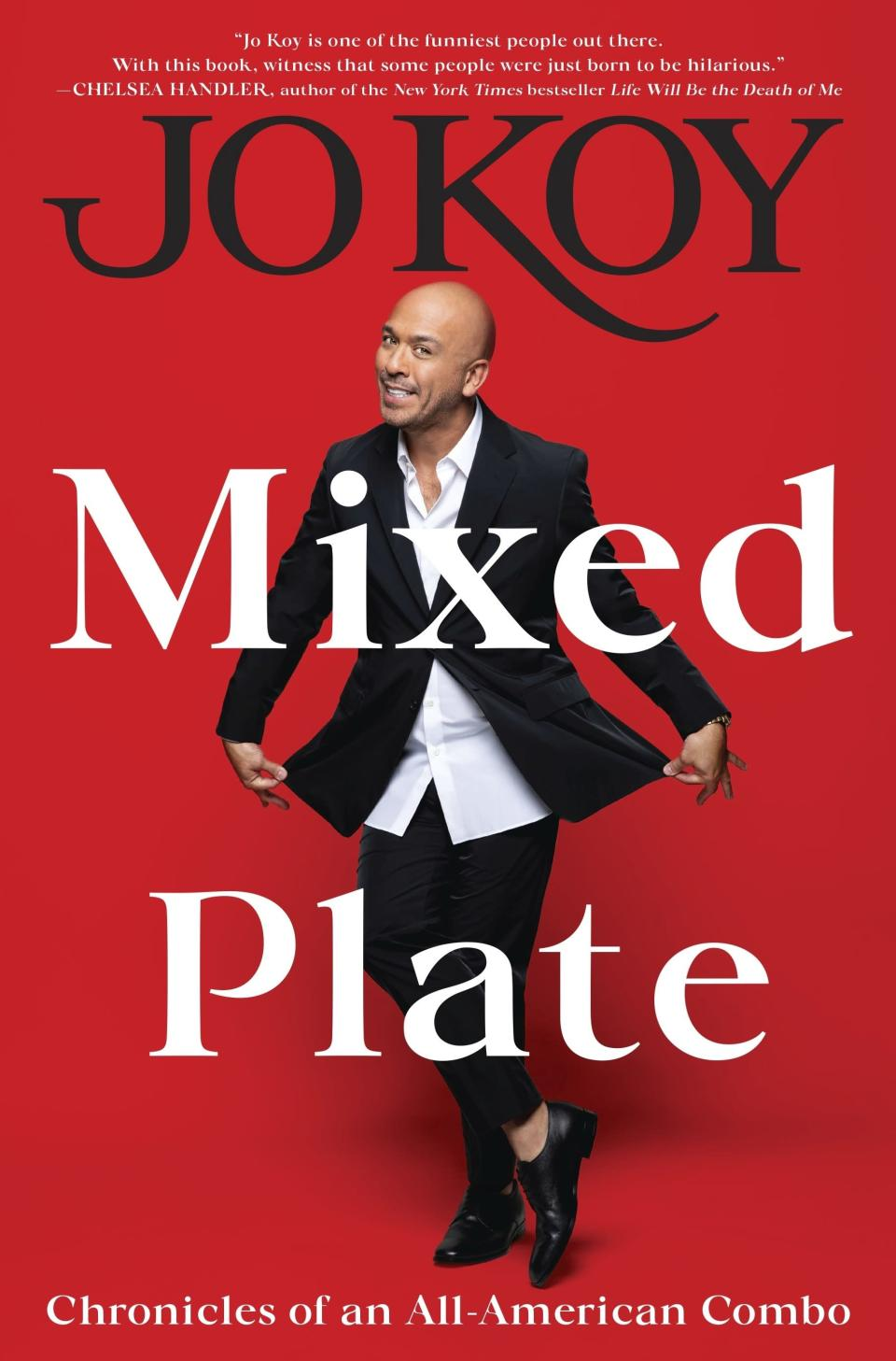 """This cover image released by Dey Street Books shows """"Mixed Plate: Chronicles of an All-American Combo,"""" a memoir by comedian Jo Koy. (Dey Street Books via AP)"""