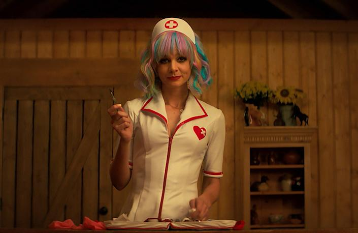 <p>Nursing a grievance: Carey Mulligan as Cassie in 'Promising Young Woman'</p> ( )