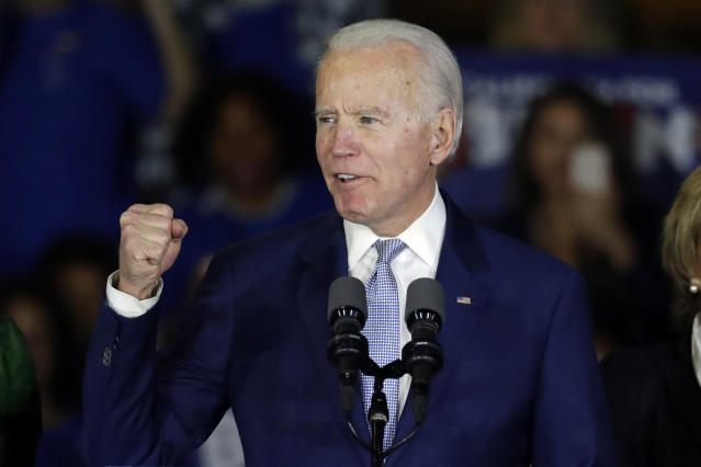 El exvicepresidente Joe Biden en un acto de campaña. (AP Photo/Chris Carlson)