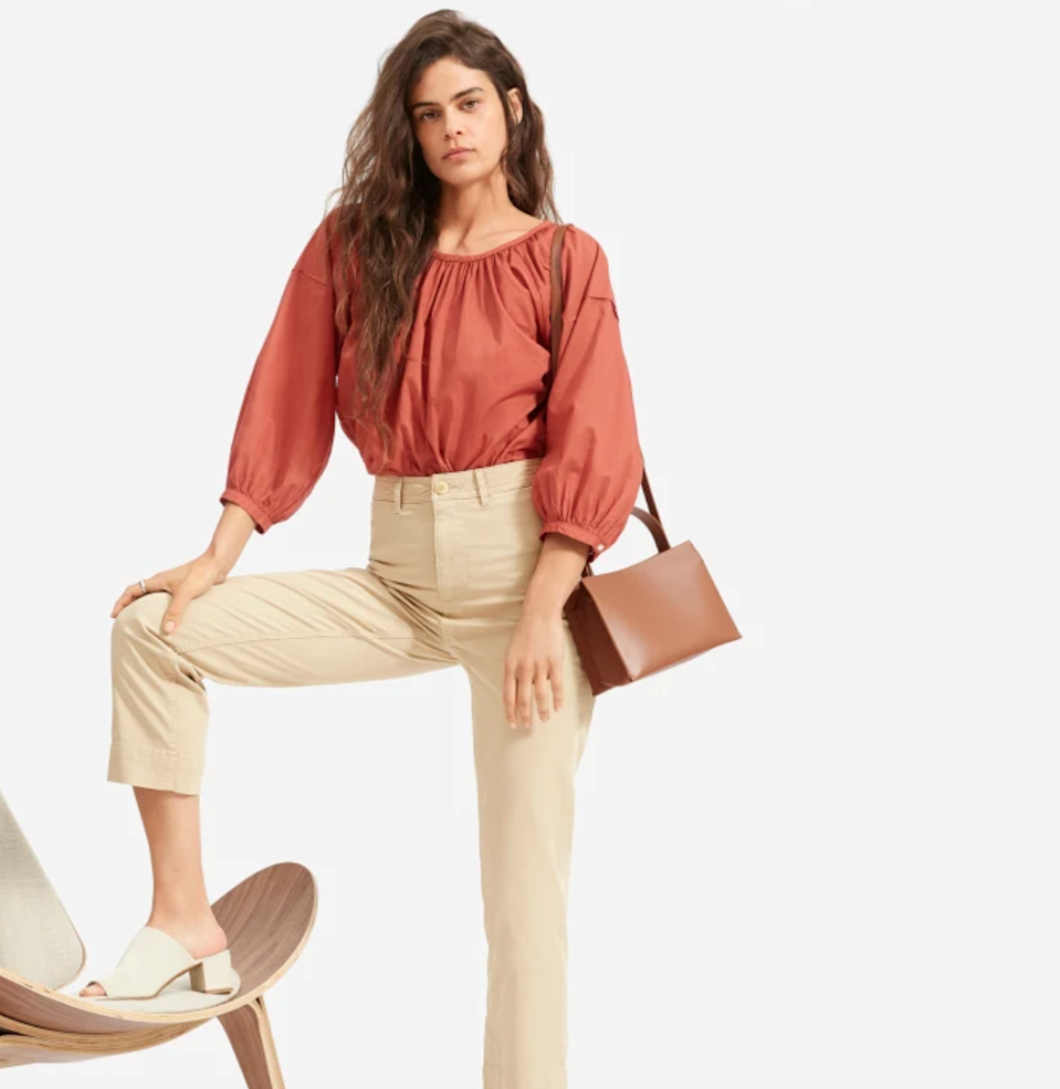 """<h3><a href=""""https://www.everlane.com/collections/womens-sale"""" rel=""""nofollow noopener"""" target=""""_blank"""" data-ylk=""""slk:Everlane"""" class=""""link rapid-noclick-resp"""">Everlane</a> </h3><br><strong>Dates:</strong> While supplies last<br><strong>Sale:</strong> Choose What You Pay<br><strong>Promo Code:</strong> None<br><br>The <a href=""""https://www.everlane.com/collections/womens-sale"""" rel=""""nofollow noopener"""" target=""""_blank"""" data-ylk=""""slk:Choose What You Pay"""" class=""""link rapid-noclick-resp"""">Choose What You Pay</a> event from eco-chic label Everlane is always a highlight in the world of retail. Pick your own price for a range of the brand's well-loved styles as part of this special promotion. Discounts as big as 60% off await!<br><br><strong>Everlane</strong> The Lightweight Straight Leg Crop, $, available at <a href=""""https://go.skimresources.com/?id=30283X879131&url=https%3A%2F%2Fwww.everlane.com%2Fproducts%2Fwomens-lw-straight-leg-crop-lightkhaki"""" rel=""""nofollow noopener"""" target=""""_blank"""" data-ylk=""""slk:Everlane"""" class=""""link rapid-noclick-resp"""">Everlane</a>"""