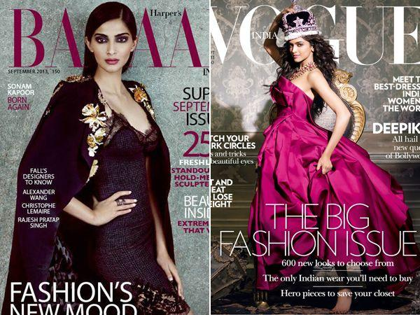 Vote: Sonam Kapoor Vs Deepika Padukone in September Mag Covers