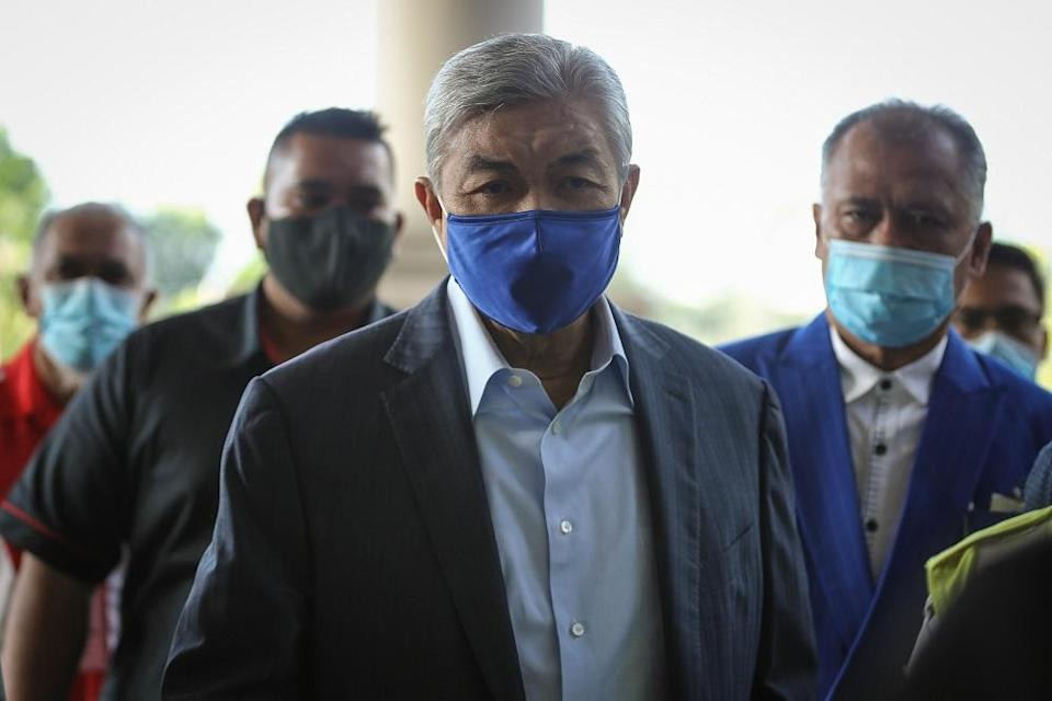 In this trial, Datuk Seri Ahmad Zahid Hamidi is facing 47 charges, namely 12 counts of criminal breach of trust in relation to charitable foundation Yayasan Akalbudi's funds, 27 counts of money laundering, and eight counts of bribery charges.— Picture by Yusof Mat Isa