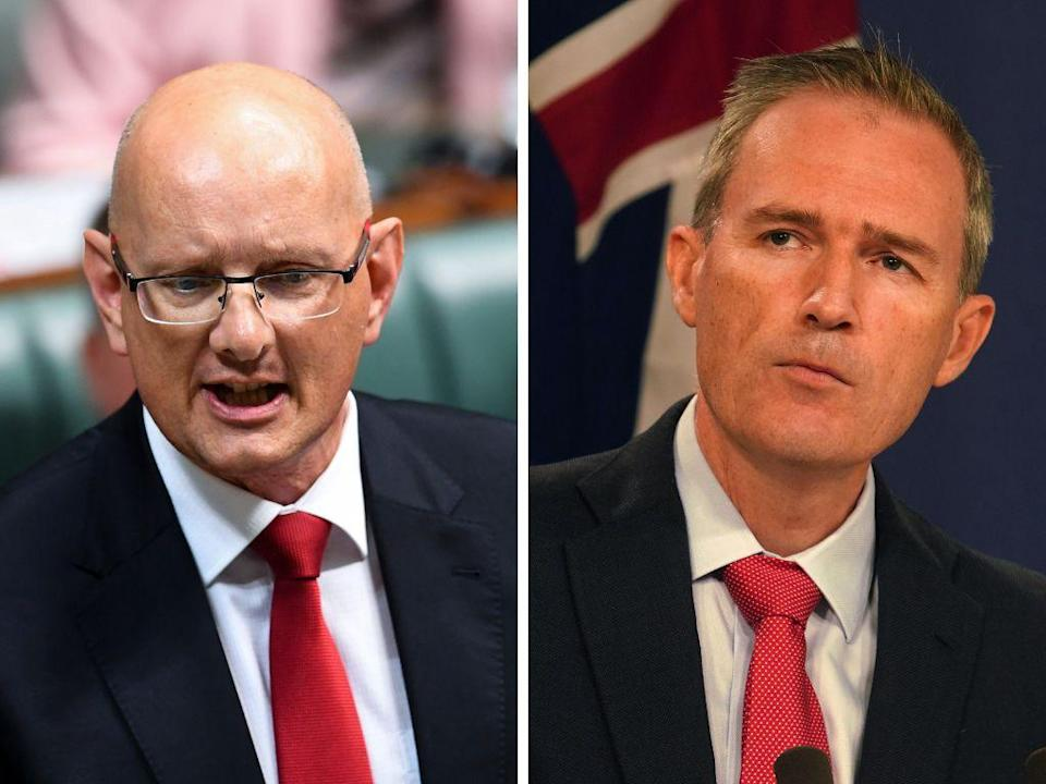 Left: Labor shadow minister for Immigration and Border Protection Shayne Neumann; Right: Minister for Immigration, Citizenship and Multicultural Affairs David Coleman. (Photos: AAP)
