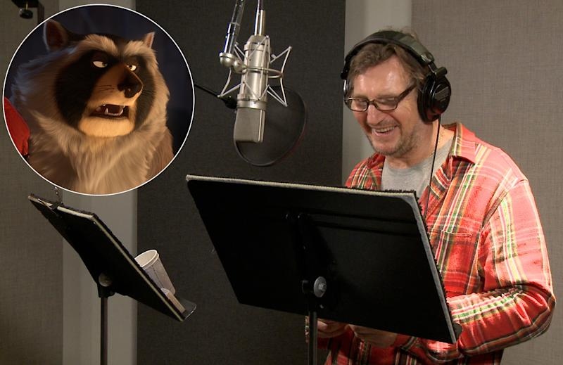 Liam Neeson doing voiceover for 'Nut Job'