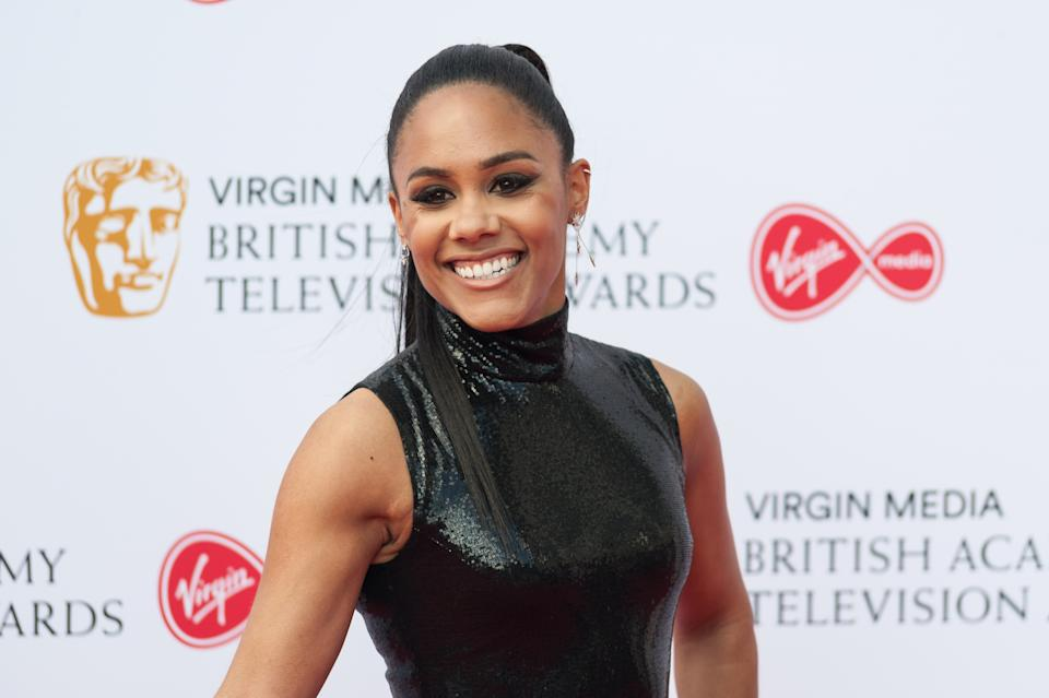Alex Scott attends the Virgin Media British Academy Television Awards ceremony at the Royal Festival Hall on 12 May, 2019 in London, England. (Photo by WIktor Szymanowicz/NurPhoto via Getty Images)