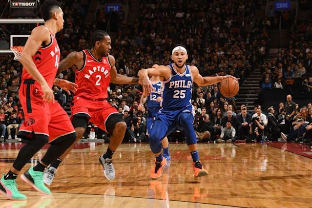 The Raptors can throw an array of defenders in Ben Simmons' way. (Getty Images)