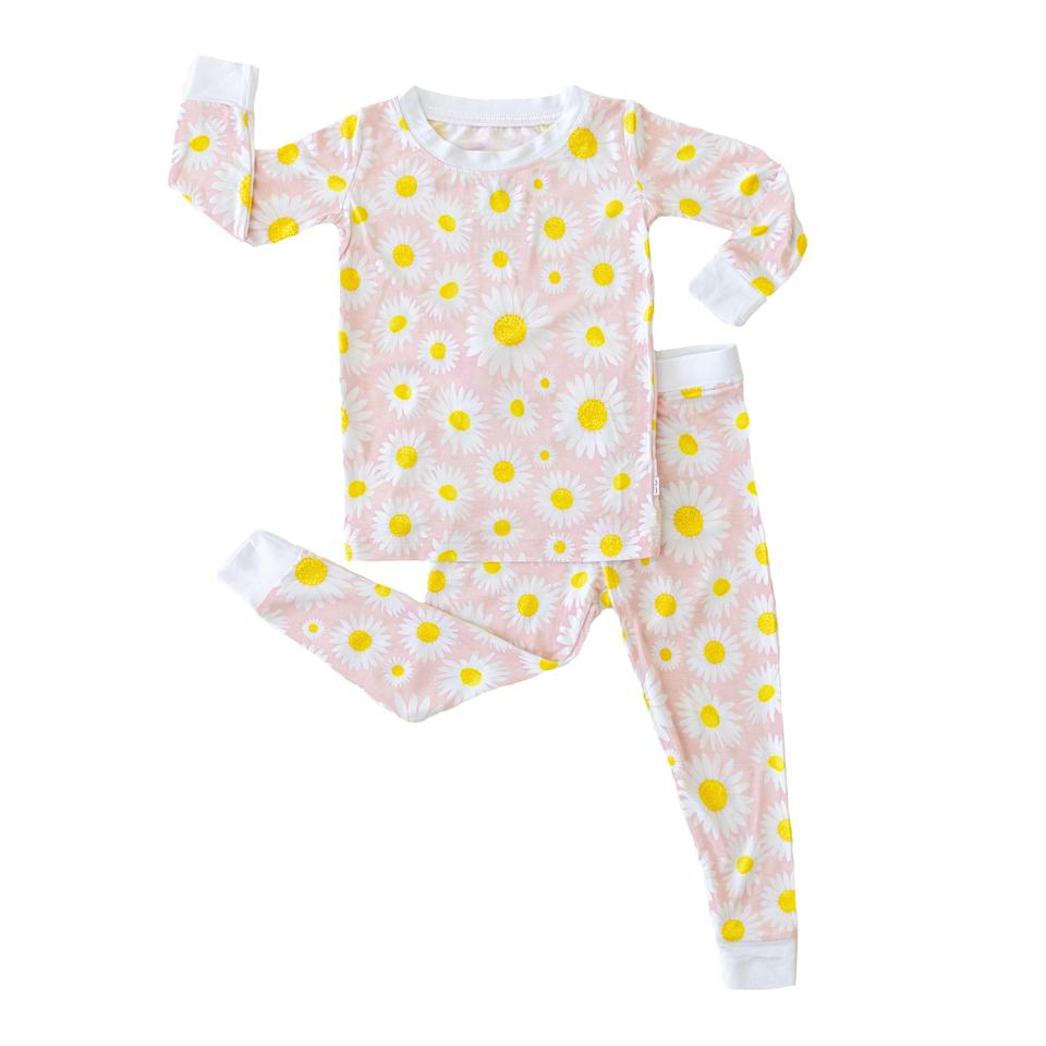 """<p><strong>Little Sleepies</strong></p><p>littlesleepies.com</p><p><strong>$29.99</strong></p><p><a href=""""https://littlesleepies.com/collections/new-arrivals/products/daisies-two-piece-bamboo-viscose-pajama-set"""" rel=""""nofollow noopener"""" target=""""_blank"""" data-ylk=""""slk:Shop Now"""" class=""""link rapid-noclick-resp"""">Shop Now</a></p><p>Everything is coming up daisies, and organic bamboo cotton.</p>"""