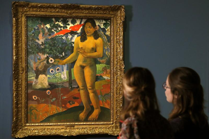 "Paul Gauguin's ""Te Nave Nave Fenua (The Delighful Land)."" (PATRICK KOVARIK via Getty Images)"