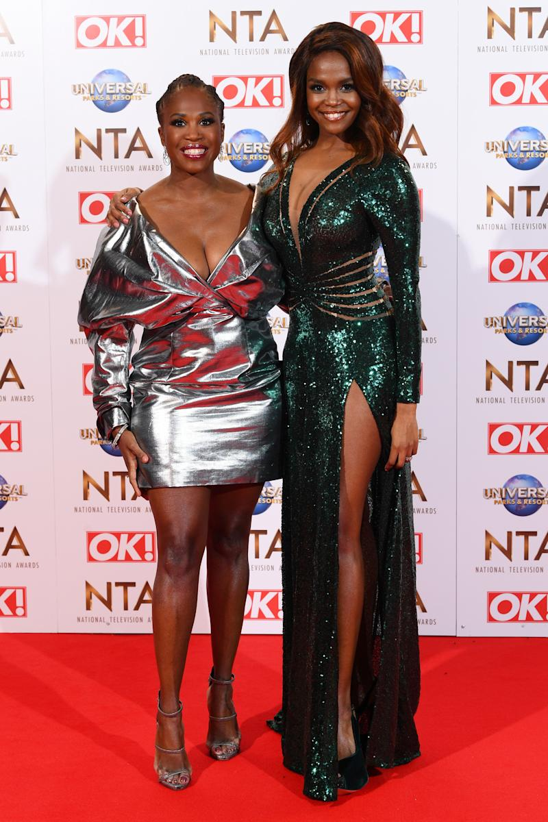 Motsi Mabuse and Oti Mabuse 25th National Television Awards, Arrivals, O2, London, UK - 28 Jan 2020