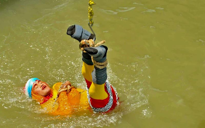 Chanchal Lahiri, 41 – also known as the Wizard Mandrake – drowned in the Hooghly River - AFP