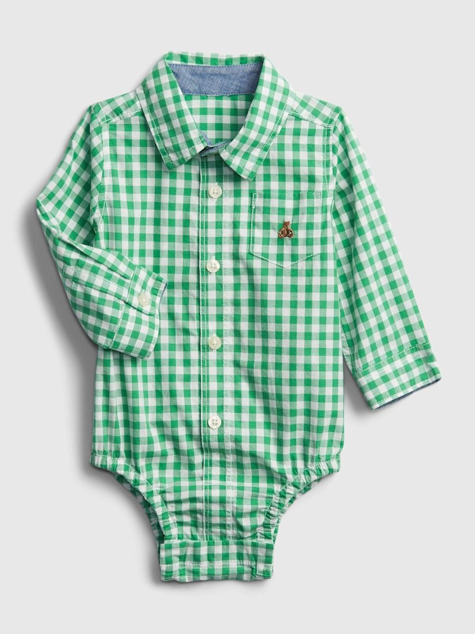 <p>Gift this cute <span>Gap Baby Plaid Bodysuit</span> ($21, originally $25). It's perfect for spring!</p>