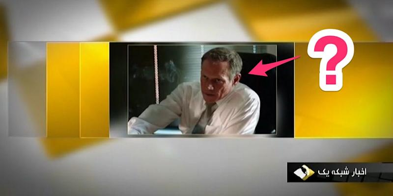 An image broadcast on Iran's state TV of actor Fredric Lehne, playing a character based on real CIA agent Michael D'Andrea, in the movie