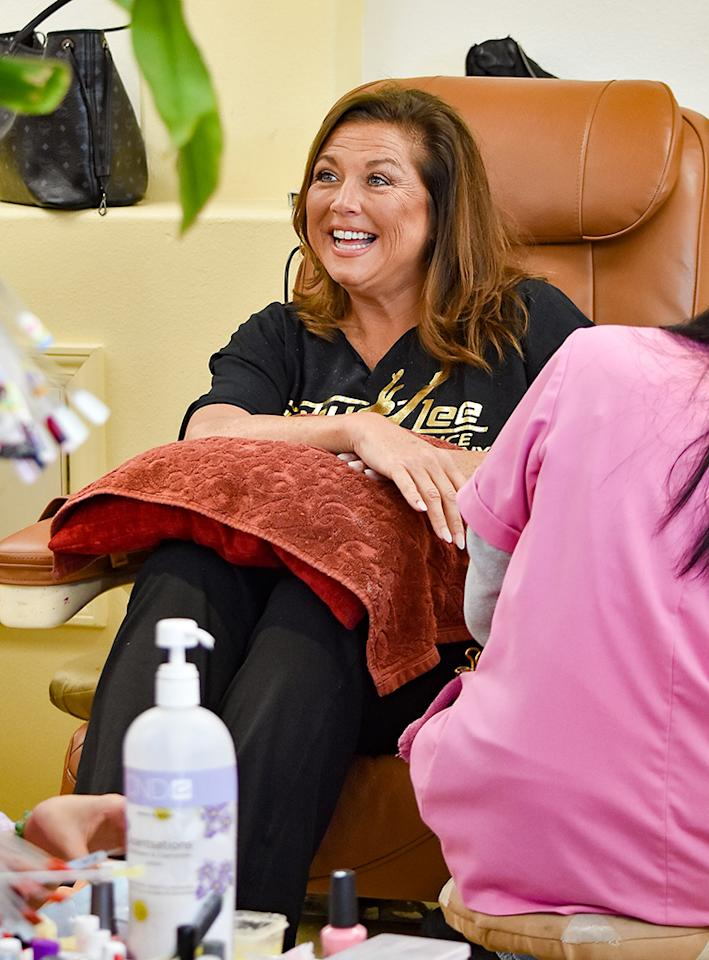 <p>On the heels of getting released from prison, the former <em>Dance Moms</em> star was seen getting pampered with a manicure and pedicure at a nail salon in Los Angeles, Calif., on Thursday. (Photo: BG015/Bauer-Griffin/GC Images) </p>