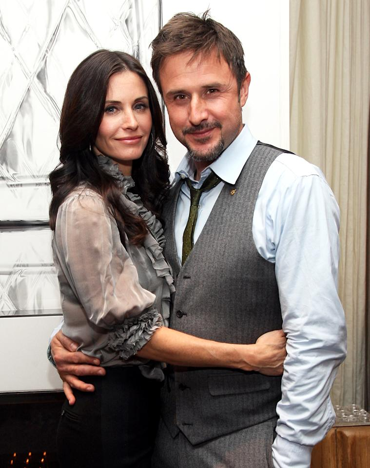 """The original """"Scream"""" brought David Arquette and Courteney Cox together. Now the married couple is returning for the latest sequel. Jason Kempin/<a href=""""http://www.wireimage.com"""" target=""""_blank"""">WireImage</a> - January 22, 2009"""