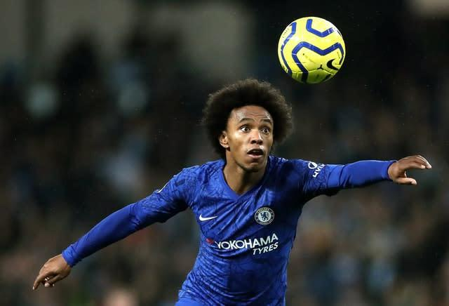 Willian, pictured, remains in talks with Chelsea over his long-term future (Nick Potts/PA)